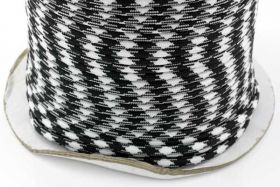Faldskærmsline 5 mm Sort/hvid camo