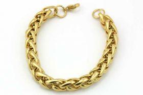 Armbånd rustfri stål ca. 22 cm Guld
