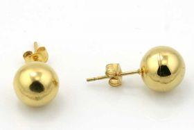 Rustfri stål ørestik Kugle 10 mm  Guld