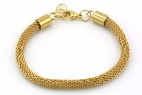 Armbånd rustfri stål ca.18,5 cm Guld