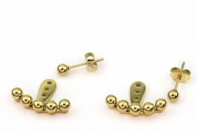 Ørestikker bag øret Rustfri stål i guld