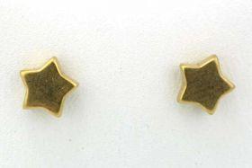 Rustfri stål ørestikker stjerne 6 mm guld