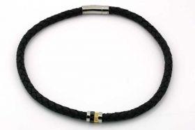 Halskæde i 8 mm lækker blødt læder