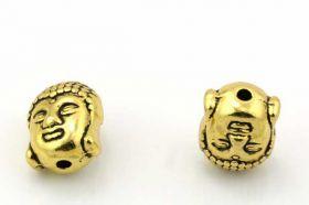 Buddha perle guld farve 11x9 mm