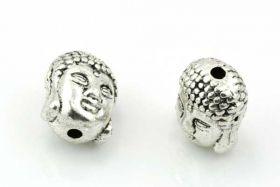 Buddha perle sølv farve 11x9 mm