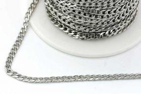 Rustfri stål kæde 5 x 3 mm