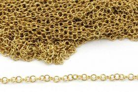 Rustfri stål kæde 3,5 mm Guld