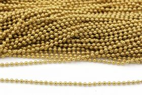 Rustfri stål kugle kæde 1,5 mm Guld