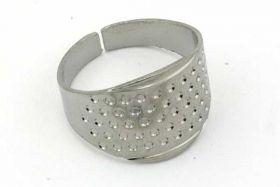 Fingerbøl/Nålering sølvfarve