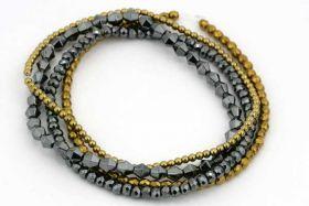 Armbånd med elastik og perler