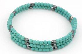 Armbånd i memorywire med perler