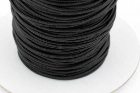 Micro cord 1,5 mm Sort