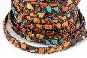 Textil snøre Brun 12 x 4 mm