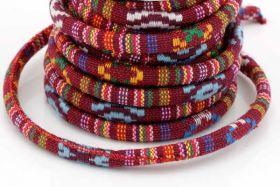 Textil snøre Etnisk mønster 6 mm