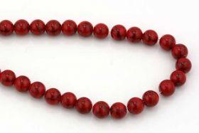 Rød Turkis rund 8 mm