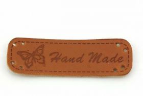 Hand made mærke 48x15 mm Brun PU Læder