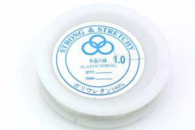 Elastiktråd, klar 1 mm, 5 mtr