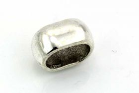 Metal perle oval hul 10 x 7 mm