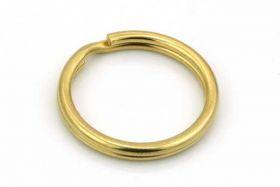 Nøglering Guld rustfri stål 20x1,5 mm