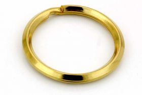 Nøglering Guld rustfri stål 28x2,5 mm