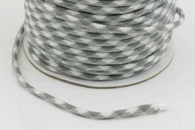 Faldskærmsline 4 mm Neutral Grå/Hvid