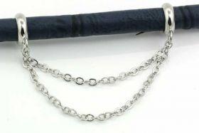 Charms til 6 mm snøre sølvbelagt kædehænger