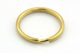 Nøglering Guld rustfri stål 15x1 mm