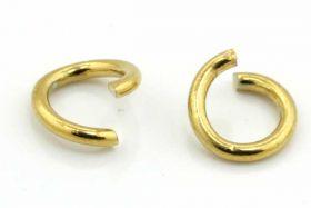 O-ringe rustfri stål guld 7 mm 20 stk