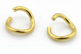 O-ringe rustfri stål guld hul 6 mm 20 stk