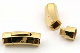 Lås tube Rustfri stål Guld 8 mm hul