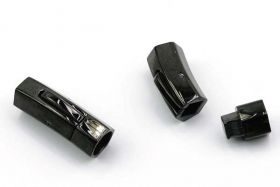 Lås tube Rustfri stål Sort 8 mm hul