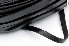 Lædersnøre 2,5x10 mm Sort