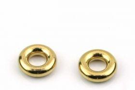 Rustfri stål led Guld 5 mm hul
