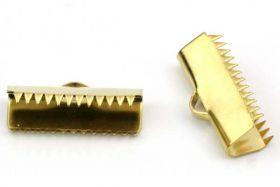 Endestykke klemme Rustfri stål Guld 7x20 mm 6 stk