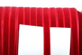 Fløjlsbånd 9,5 mm Rød