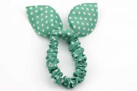 Scrunchie Grøn med hvide prikker