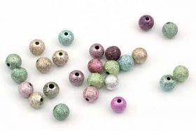 Acryl perler Bubblegum ass. 8 mm - ca. 100 stk