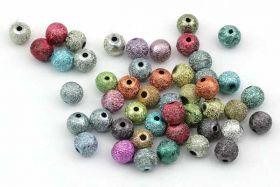 Acryl perler Bubblegum Stardust ass. 6 mm - ca. 60 stk
