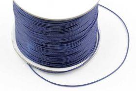 Knyttesnor 0,5 mm Vokset Mørk Blå Polyester 180 mtr