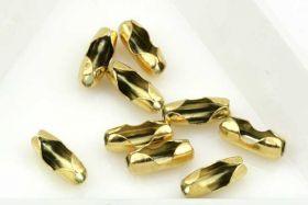 Lås til Kuglekæde rustfri stål Guld til 2,5 mm kuglekæde