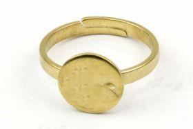 Fingerring med plade guld rustfri stål 10 mm plade