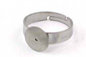 Fingerring rustfri stål med plade 10 mm plade