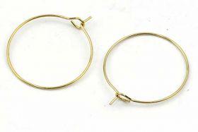 Creoler ørering rustfri stål 25 mm guld 5 par