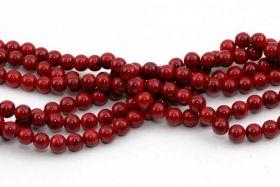 Rød Turkis rund 6 mm