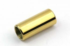 Rustfri stål lås guld hul 6 mm