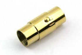 Bajonetlås rustfri stål guld hul 6 mm