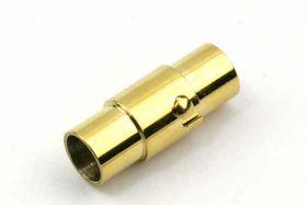 Bajonetlås rustfri stål guld hul 5 mm