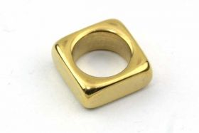 Rustfrit stål led guld 8 mm hul