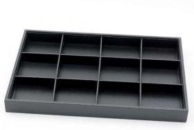 Bakke til smykker - sort med 12 rum