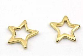 Rustfri stål vedhæng Stjerne19,5 mm Guld